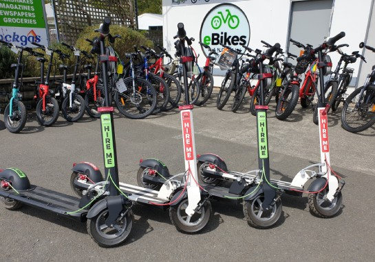 e-scooters for-hire Photo